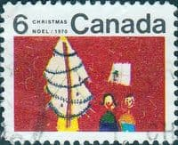 Canada 1970  Christmas. Children's Drawings SG 669 Fine Used