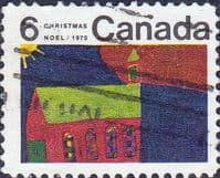 Canada 1970  Christmas. Children's Drawings SG 670 Fine Used