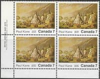 Canada 1971 Paul Kane SG 686 Fine Mint Corner Marginal Block of 4