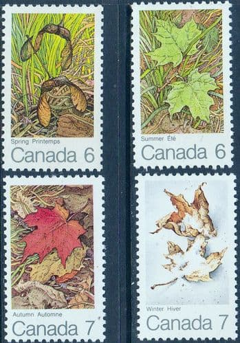 Canada 1971 The Maple Leaf in Four Seasons Set Fine Mint