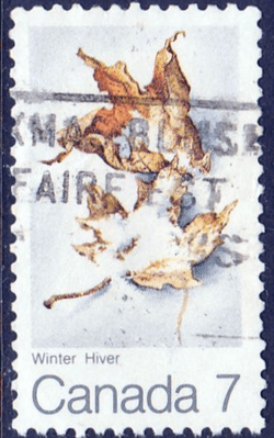 Canada 1971 Withered leaves and snow SG 680 Fine Used