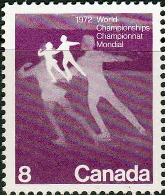 Canada 1972 World Figure Skating Championships SG 692 Fine Mint