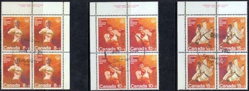 Canada 1975 Olympic Games, Montreal set Blocks of 4 Fine Used