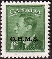 Canada Offical O.H.M.S. Overprints
