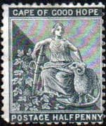 Cape of Good Hope 1871 SG 28 Hope Seated Fine Used