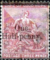 Cape of Good Hope 1882 SG  46 Hope Seated Surcharged Fine Used