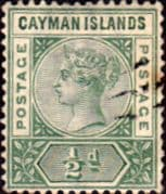 Cayman Islands 1900 Queen Victoria SG 1 Fine Used