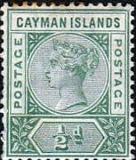 Cayman Islands 1900 Queen Victoria SG 1a Mint