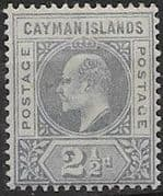 Cayman Islands 1902 Edward VII SG 5 Fine Mint