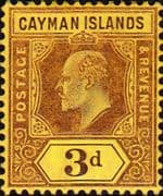 Cayman Islands 1907 Edward VII SG28 Fine Mint