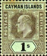 Cayman Islands 1907 Edward VII SG31  Mint