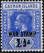 Cayman Islands 1917 War Stamp Surcharge SG 56 Fine Mint