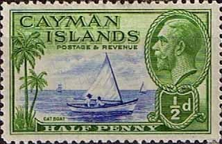 Cayman Islands 1935 King George V Head and Cat Boat SG 97 Fine Mint