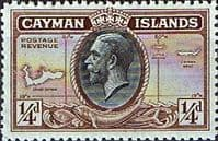 Cayman Islands 1935 King George V Head and Map SG 96 Fine Mint