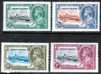 Cayman Islands 1935 King George V Silver Jubilee Set Fine Mint
