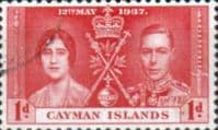 Cayman Islands 1937 Coronation SG 113 Fine Used