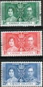 Cayman Islands 1937 King George VI Coronation Set Fine Used