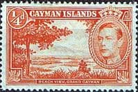 Cayman Islands 1938 SG 115 Beach View Fine Mint