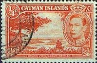 Cayman Islands 1938 SG 115 Beach View Fine Used