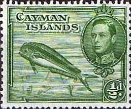 Cayman Islands 1938 SG 116a Dolphin Fish Fine Mint