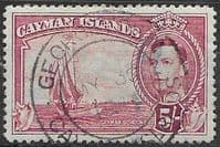 Cayman Islands 1938 SG 125a Scooner Fine Used