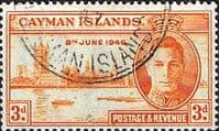 Cayman Islands 1946 Victory SG 128 Fine Used