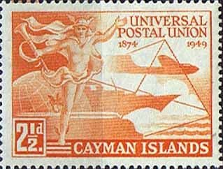 Cayman Islands 1949 UPU SG 131 Fine Mint