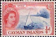Cayman Islands 1953 SG 148 Cat Boat Fine Mint