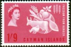 Cayman Islands 1963 Freedom From Hunger Fine Mint