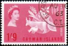 Cayman Islands 1963 Freedom From Hunger Fine Used