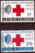 Cayman Islands 1963 Red Cross Centenary Set Fine Used
