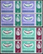 Cayman Islands 1965 International Co-operation Year Set Fine Mint Blocks of 4