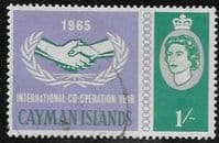 Cayman Islands 1965 International Co-operation Year SG 187 Fine Used