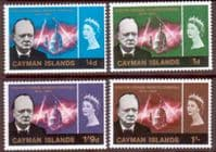 Cayman Islands 1966 Churchill Set Fine Mint