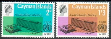 Stamps Cayman Islands 1966 World Health Organisation Set Fine Mint