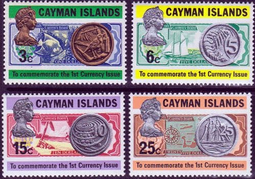 Cayman Islands 1972 First Issue of Currency Set Fine Mint