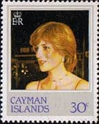 Cayman Islands 1982 21st Birthday of Princess of Wales SG 550 Fine Mint