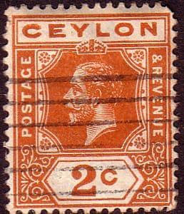 Ceylon 1912 King George V Head SG 307 Fine Used