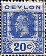 Postage Stamp Ceylon 1921 King George V Head SG 350b Fine Used SG 350b Scott 237