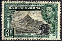 Ceylon 1938 King George VI SG 387 Adams Peak Fine Used