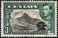 Ceylon 1938 King George VI SG 387a Adams Peak Fine Used