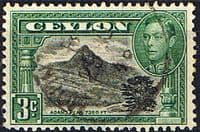 Ceylon 1938 King George VI SG 387b Adams Peak Fine Used