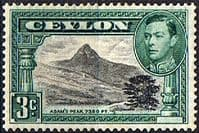 Ceylon 1938 King George VI SG 387d Adams Peak Fine Mint