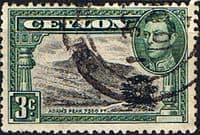 Ceylon 1938 King George VI SG 387e Adams Peak Fine Used