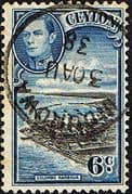 Ceylon 1938 King George VI SG 388 Colombo Harbour Fine Used