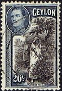Ceylon 1938 King George VI SG 391 Tea Picking Fine Used