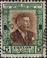 Ceylon 1949 First  Anniversery Independence SG 407 Fine Used