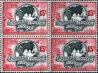 Ceylon 1949 SG 411 UPU Fine Mint Block of 4