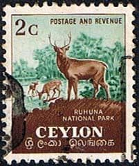Ceylon 1951 SG 419 National Park Dear Fine Used