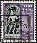 Ceylon 1951 SG 420 Ancient Guard Stone Fine Used